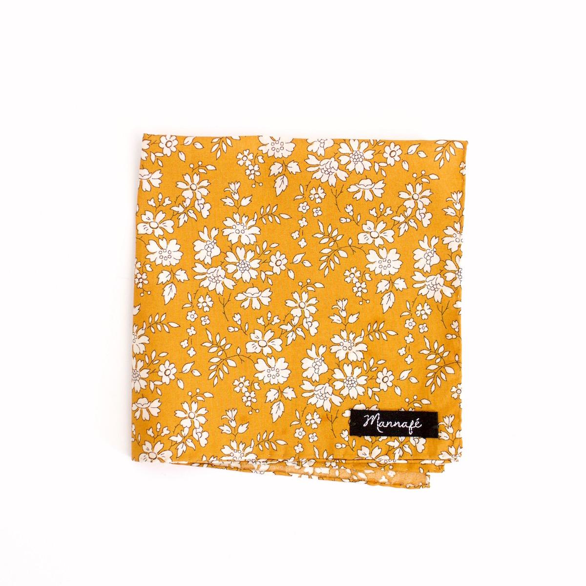 pochette de costume liberty capel moutarde mannaf. Black Bedroom Furniture Sets. Home Design Ideas